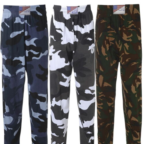 Men/'s Camouflage Army Military Training Gym Tracksuit Elastic Bottoms Trousers