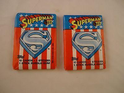 Heb Een Onderzoekende Geest 2 Superman Iii Movie Topps Trading Card Pack New Super Man 3 Non-Strijkservice