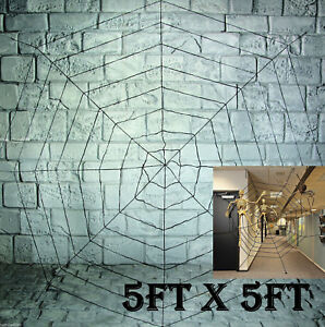 GIANT-150cm-5ft-SPIDERS-WEB-COBWEB-HALLOWEEN-HAUNTED-HOUSE-PARTY-DECORATION