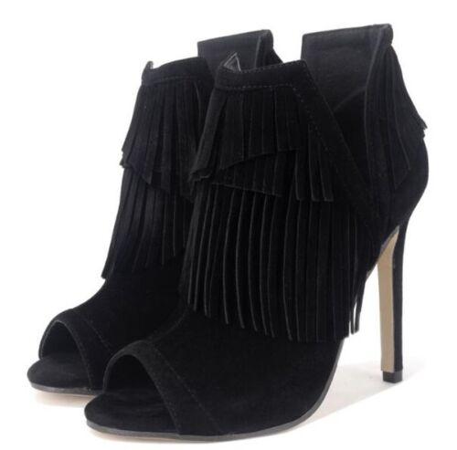 Chaussures Cm Cw744 Noir Cuir Été Bottes Basses Pour Femmes Comme 11 xqfHwR