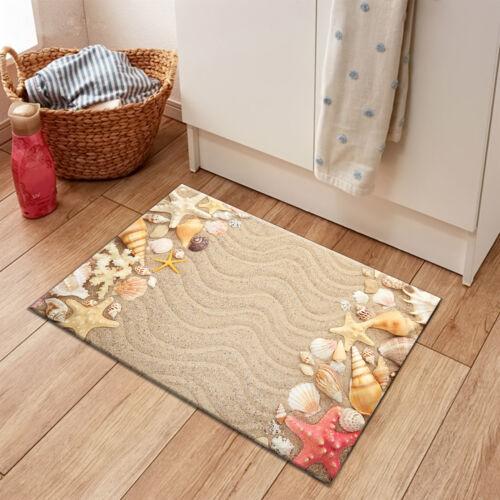 Sand Beach Seashells /& Starfishes Scene Area Rugs Bedroom Living Room Floor Mat