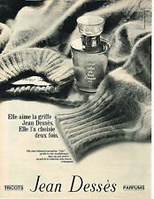 PUBLICITE ADVERTISING 064  1969  JEAN DESSES  parfums tricots
