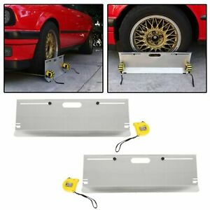 Compact 2-Wheel Alignment System Camber/Caster/Toe Gauge Tool Toe Plate Aluminum