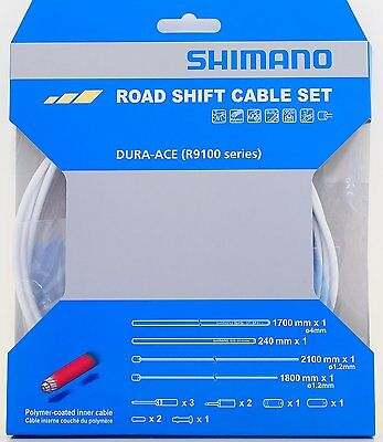 Shimano Polymer coated Shift Cable Derailleur Cable Inner Cable 1.2x2100mm 1pc