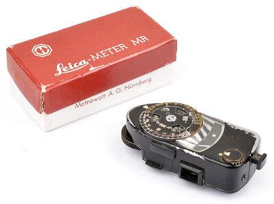 Erfrischend Und Wohltuend FüR Die Augen MüHsam Leica-meter Mr No.10845 Black Paint Schwarz Lackiert Boxed Original Rare !!