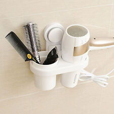 Home Wall Mounted Hair Dryer Stand Holder Hanger Organizer Storage Bathroom Set