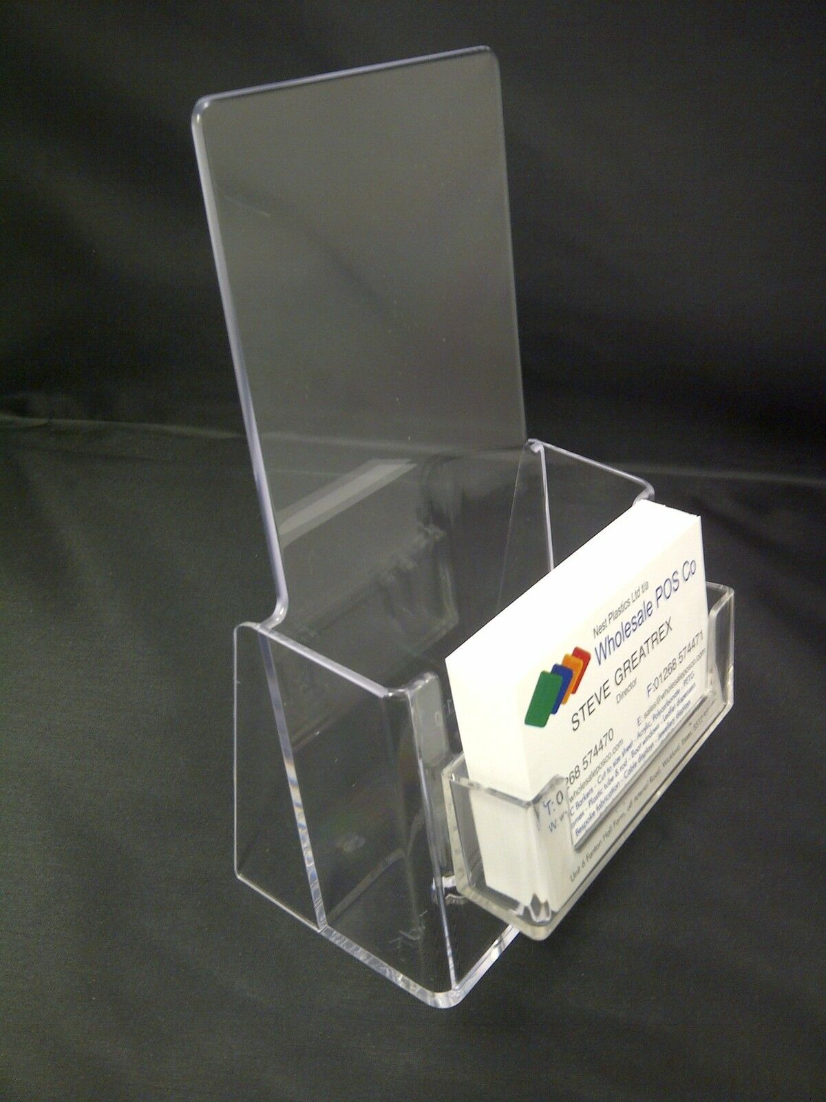 Dual use counter standing leaflet business card holder for Flyer and business card holder