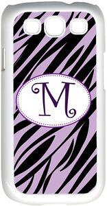 One-Initial-Curlz-Monogram-Lavender-amp-Black-Zebra-Design-Samsung-Galaxy-S3-Case