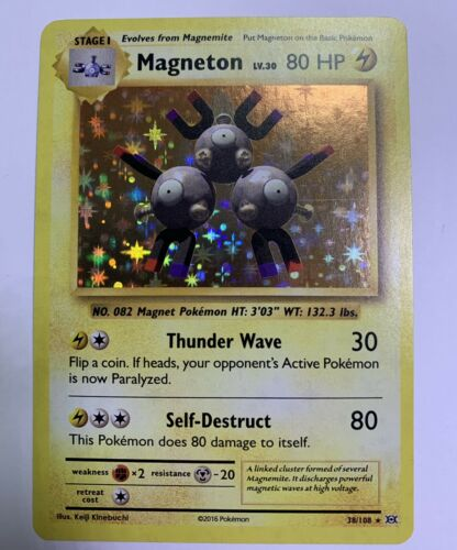 Pokemon Card Magneton Holo Rare 38//108 Evolutions Near Mint