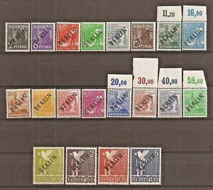 GERMANY BERLIN SG B1/20, 1948 OVPT SET EXPERTISED SCHLEGEL BPP MNH (7 scans).