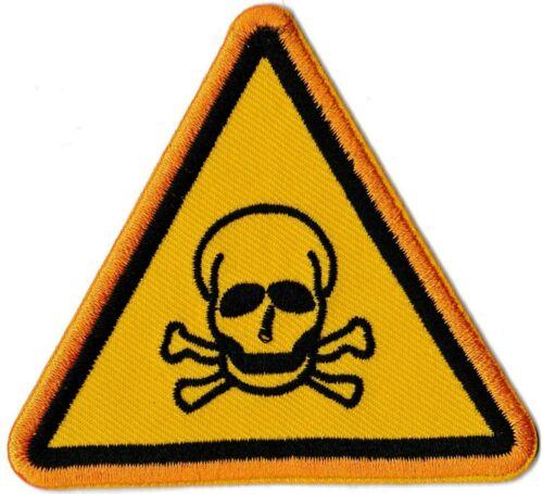 patche danger toxique écusson patch thermo thermocollant badge logo