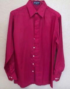 Givenchy For Chesa Mens Burgundy Long Sleeve Polyester Dress Shirt