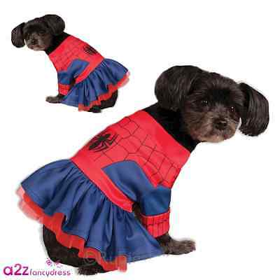 SPIDERGIRL DOG PET PUPPY MARVEL COSPLAY SPIDERMAN NOVELTY FUNNY COSTUME OUTFIT