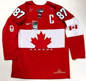 fbf04cfdb67 SIDNEY CROSBY 2014 SOCHI GOLD MEDAL TEAM CANADA NIKE JERSEY NEW WITH ...