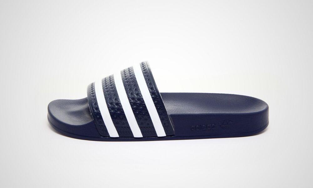 Adidas Adilette (bleu/blanc) - Neuf