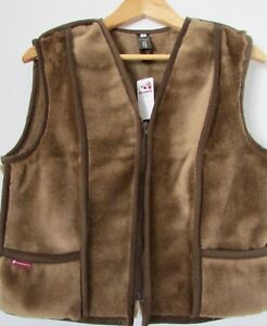 ladies-Gilet-Luxury-Wool-Vest-TRADITIONAL-COSTUME-WAISTCOAT-kamelwolle-Woven
