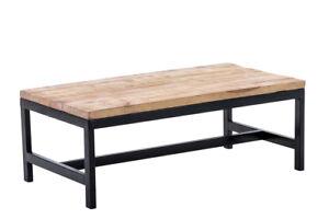 Table Basse Ramesh Bois Métal Noir Salon Salle à Manger Design