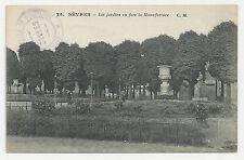 Postcard, France, Sevres, Les jardins en face la Manufacture