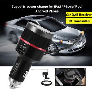 Car DAB/DAB+Digital Radio USB Adapter Receiver FM Transmitter Tuner w/Antenna