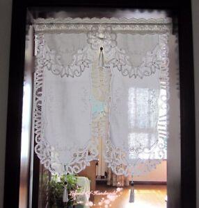 Image Is Loading HANDMADE Romantic Victorian White Battenburg Lace Tasseled Fengshui