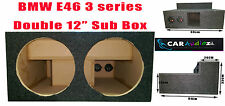 "BMW E46 3 Series Convertible Custom Double 12"" Sub Bass Box Enclosure Subwoofer"