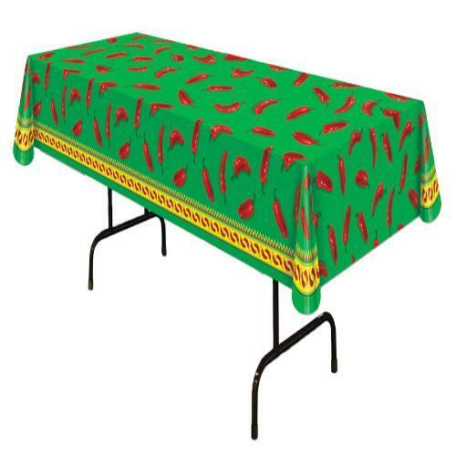 CHILI PEPPER TABLE COVER CINCO DE MAYO PARTY DECORATION BG57301