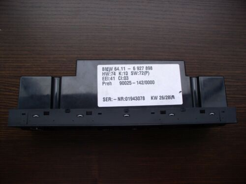 BMW X5 E53 A//C AIR CONDITIONING HEATER CLIMATE CONTROL MODULE MAX p//n 6927898