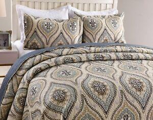 3Pc-Quilt-Bedspread-Sets-Bedding-Coverlet-Bedroom-Floral-Queen-King-Size-Joniy