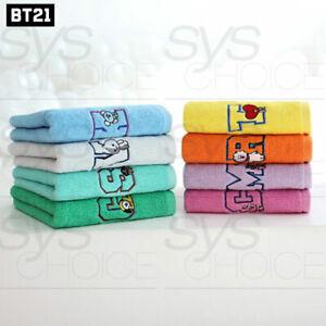 BTS BT21 Official Authentic Goods Bath Cotton Towel Wappen Badge Ver 40 x 80cm