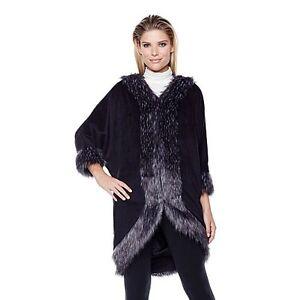 Fausse Kimono Queens Adrienne En Par Landau couleurs choix Garniture Nwot de Fourrure A Avec Grand fIqpzz