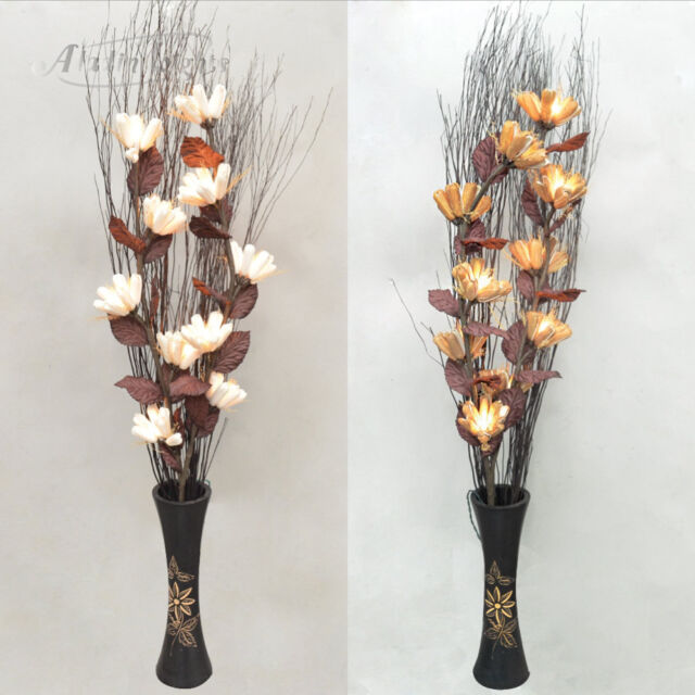 GaiaShine Lighted Twig Branches Protea Artificial Flowers Home Patio Lamps UK