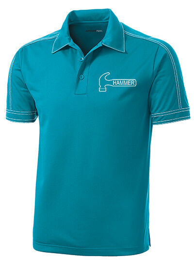 Hammer Men's Axe Performance Polo Bowling Shirt Dri-Fit Tropic bluee