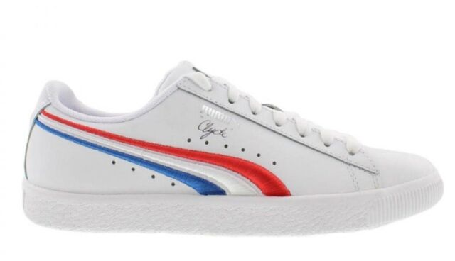 new product 6e60c 4dea3 PUMA Big Kid's CLYDE 4TH OF JULY Gradeschool Shoes White 365743-01 b