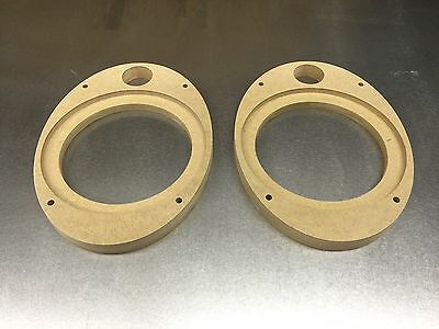 MDF Speaker rings 6 x 9 to 6.5 component set adapter for JL Audio C5 series