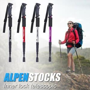 Trekkingstock-4Abschnitte-Aluminium-Teleskop-Wandern-WalkingStoecke-Trekkingstock