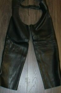 US-Made-Co-Middleton-MA-Leather-Motorcycle-Chaps-SIZE-XXL-Made-in-USA