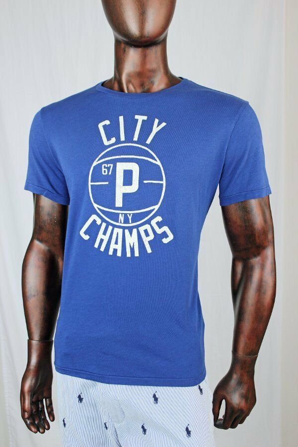 be0c8bfd79ad1 Ralph Mens bluee City Champs T-Shirt NWT Lauren POLO nspiof4242-T ...