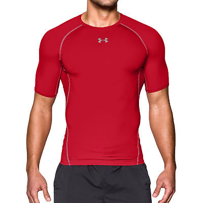 New Under Armour HeatGear Compression Fit T-Shirt Men/'s Choose Size Blue or Red