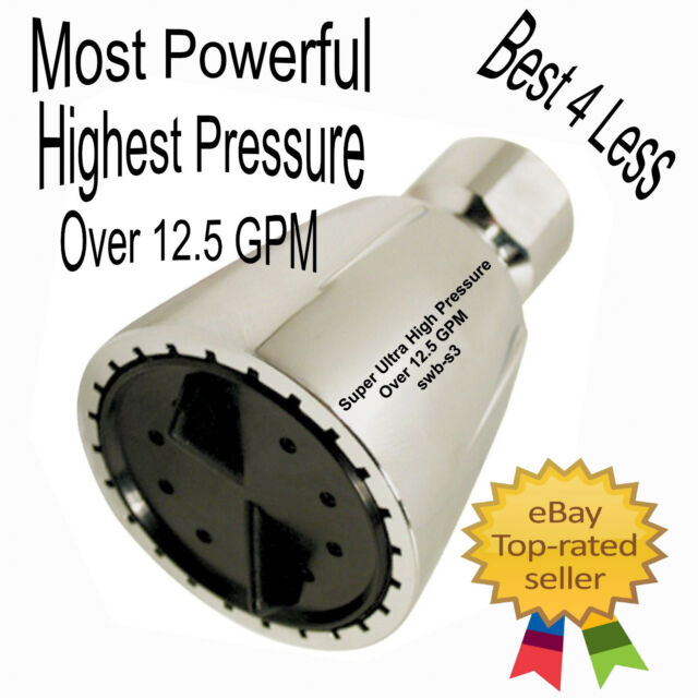 Ultra High Pressure Shower Head Over 12.5gpm Modified Head Water Blaster Auction