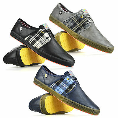 Mens Casual Flat Lace Up Canvas Style Plimsolls Summer Trainers Pumps Shoes Size