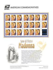 529-32c-Christmas-Madonna-3176-USPS-Commemorative-Stamp-Panel