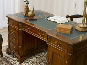 Ordinaire Das Bild Wird Geladen Partner Schreibtisch Victorian Englischer Stil Buero  Doppelschreibtisch 150