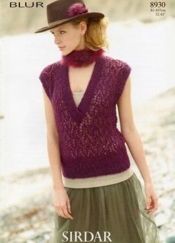 8930 Sirdar Blur Knitting Pattern for Tank Top