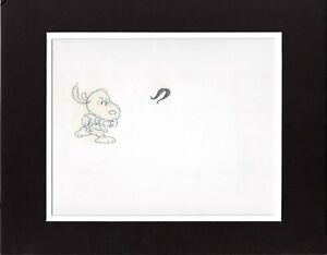 PEANUTS-Charlie-Brown-and-Snoopy-Show-Production-Animation-Cel-Drawing-1985-13d
