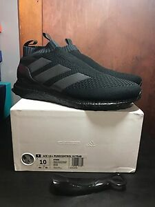 new styles e1ec1 deb4b Image is loading ADIDAS-ACE-16-PURECONTROL-ULTRA-BOOST-TRIPLE-BLACK-