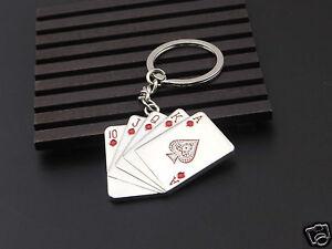 Schluesselanhaenger-Metall-Chromiert-Karten-Poker