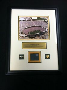 Green-Bay-Packers-Game-Used-Metal-from-Lambeau-Field-Stadium-Framed-Display-NFL