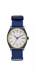 NIB-Nixon-Watch-The-Time-Teller-Blue-Gold-White-A045-2452