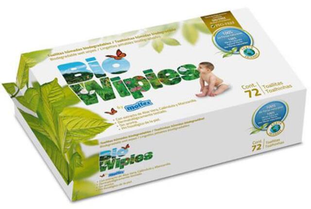 BIO degradable Certified ORGANIC Baby 72 Wipes Skincare aloevera calendula Vegan