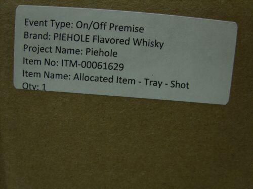 Holds 6 *NEW* Piehole Flavored Whiskey Promo Barware Shot Holder Tray Pie Tin